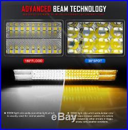 10D 50inch 4032W CREE Quad Row LED Light Bar Combo Driving 4WD TRUCK Car 50 52