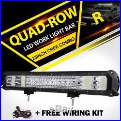 10D+ Quad Row 23 INCH 2256W LED Light Bar Combo Offroad PK 20222418161230
