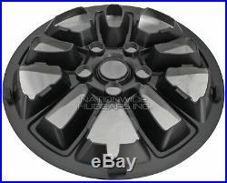18-20 Jeep Grand Cherokee Laredo 17 Black Wheel Skins Hub Caps Full Rim Covers