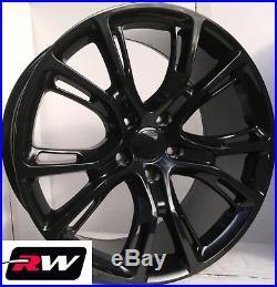 18 RW Wheels for Dodge Durango Gloss Black 18x8 Rims Jeep Spider Monkey Style