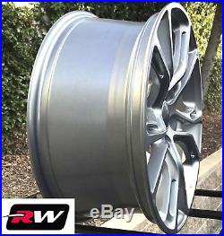 18 inch RW Wheels for Jeep Grand Cherokee Spider Monkey 18x8 Silver Gray Rims