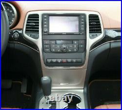 2011-2013 Jeep Grand Cherokee Overland Climate Control Radio Dash Bezel Vents
