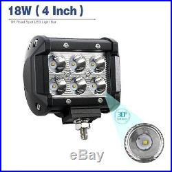 20PC 4inch 18W Backup CREE Led Work Light Offroad SUV Truck Pods Spot Fog Lights
