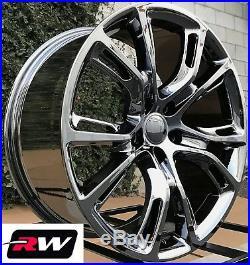 22 inch RW Wheels for Jeep Grand Cherokee Dark Chrome Rims SRT8 Spider Monkey