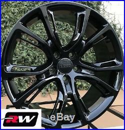 22 inch RW Wheels for Jeep Grand Cherokee Gloss Black Rims SRT8 Spider Monkey
