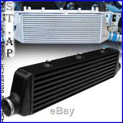 28X7Turbo FMIC Intercooler+2.5Aluminum Piping Pipe Kit Black 3ply Coupler New