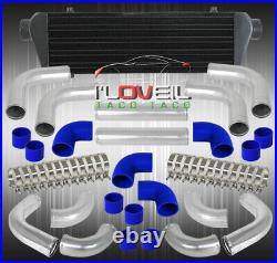 28 Black Fmic Intercooler + 12Pcs Custom Turbo Piping Kit + Silicone Coupler