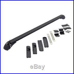 2Car SUV Roof Rail Luggage Rack Baggage Carrier Cross Aluminum Black Anti-theft
