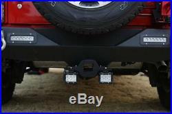2PCS 4 18W LED Backup Reverse Flood Light+Tow Hitch Mount Bracket 4WD SUV Truck