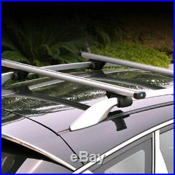 2PCS Adjustable 48 Car Auto Cross Bar Top Luggage Roof Rack Cargo Rail Aluminum