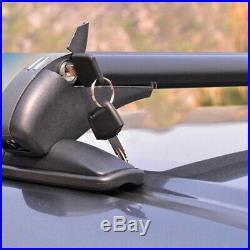 2PC Car Crossbar Rack withAnti-theft Lock Roof Rail Luggage Carrier Aluminum Frame