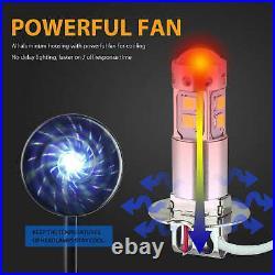 2Pcs H3 100W High Power LED 3000K Yellow Fog Light Driving Bulb DRL US