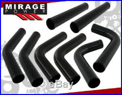2.5 Light Aluminum Turbo Supercharge Inter Cooler Fmic Piping Pipe Kit Blk/Red