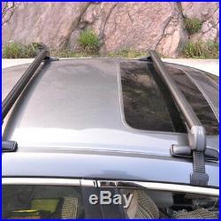 2× Car SUV Roof Rail Luggage Rack Baggage Carrier Cross Aluminum Alloy 11057cm
