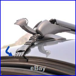 2×Universal Car Roof Rail Luggage Rack Baggage Carrier Cross Bar Aluminum Alloy