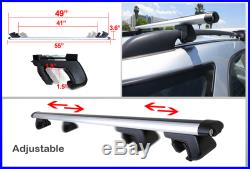 2pc 55 inch Car Top Luggage Cross Bars for Roof Railing SUV Carrier Aluminum V31