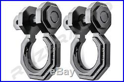 2pcs 3/4 Black 3.0 Ton Aluminum D-Ring Bow Anchor Shackle Heavy Duty Off road