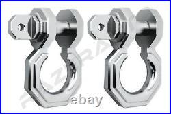 2pcs 3/4 Silver 3.0 Ton Aluminum D-Ring Bow Anchor Shackle Heavy Duty Off road