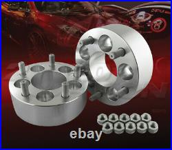 2pcs 50mm (2) Thick 5x114.3 to 5x114.3 Wheel Adapters Spacers 1/2-20 Studs