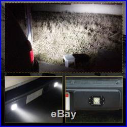 2x 260W Flush Mount LED Pods Flood Spot Work Light Bar Offroad Backup Pickup 4WD