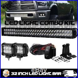 30inch 360w Led Straight Work Light Bar Super Power Combo Offroad 4wd Truck