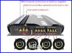 3800 Watt Car Audio High Power Stereo Amplifier RMS 4 Channels Powerful Amp 4Ohm