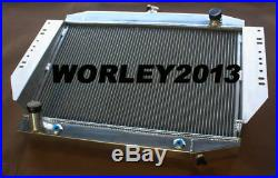 3 row aluminum radiator +fan for JEEP CHEROKEE WAGONEER J10 J20 5.9 V8 1972-1988