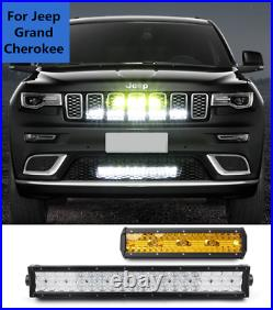 4124Inch LED Light Bar Offroad Driving Spotlights For Jeep Grand Cherokee