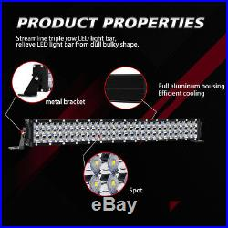 42 2700W + 22 Inch + 4 LED Work Light Bar Flood Spot Combo Offroad Truck Boat