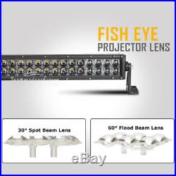4D 52 700W Curved +20inch+4 CREE LED Light Bar Spot Flood Offroad Truck 50/54
