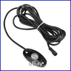 4X Pod LED Rock Lights Wireless Bluetooth Music Multi Color UTE Car Boat 4WD