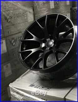4 22 x 10 Satin Black Hellcat Style Fit SRT Jeep Grand Cherokee Wheels Rims