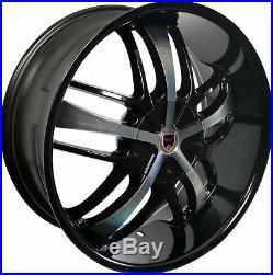 4 GWG Wheels 20 inch Black Machined SAVANTI Rims 5x127 ET35 CB74.1