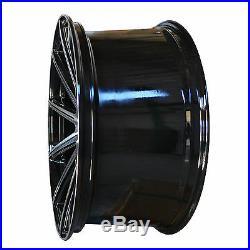 4 GWG Wheels 22 inch Black Machined MOD Rims fit JEEP GRAND CHEROKEE