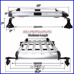 50x31 Silver Aluminum Roof Rack Cargo Luggage Carrier Bracket+Crossbar For SUV