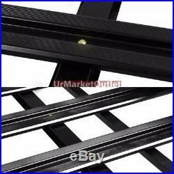 50x38 Black Aluminum Roof Rack Cargo Luggage Carrier Bracket+Crossbar For SUV