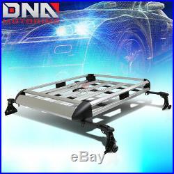 50x 38aluminum Roof Rack Car/suv Top Cargo Baggage/bag Carrier Basket+crossbar