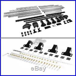 50x 38aluminum Roof Rack Van/car/suv Cargo Luggage/bag Carrier Basket+crossbar