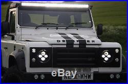 52 300W LED Light Bar Combo+2x 4 Fog Lights Land Rover Defender Roof Mounting
