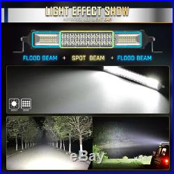 52inch Curved LED Light Bar Combo + 22 + 4x 4 Pods SUV Truck ATV Autofeel 50