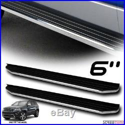 6 Aluminum Stainless Blk/Chrome Side Step Running Board VP 11-17 Grand Cherokee