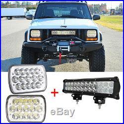 7 6 Led Headlight 12 Led Driving Light Bar For Jeep