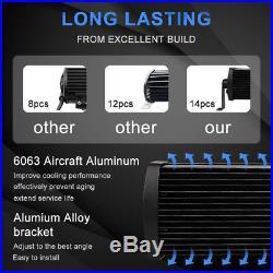 9D+ 42Inch 5152W Curved Led Light Bar Off road Fit For UTV Polaris RZR XP1K 40