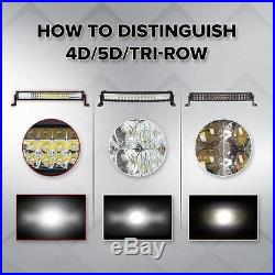 9D Tri-row 42inch 2160W Straight LED Light Bar Offroad Fit For Jeep VAN Truck 44