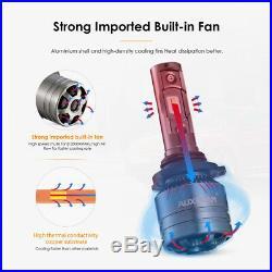 AUXBEAM 9005 H11 5202 LED Headlight for Chevy Silverado 2500 3500 HD 07-18 Fog