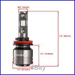 AUXBEAM H7+H11 70W 8000LM Combo CREE LED Headlight Kit High Lo Light Bulb CANBUS