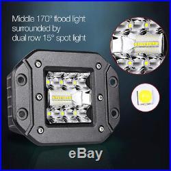A Pair 240W Spot Flood LED Work Light For Car Truck Off-Road Flush Mount Lights