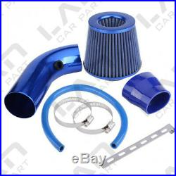 Air Intake Kit Blue Pipe Diameter 3 +Cold Air Intake Filter+ Clamp+ Accessories