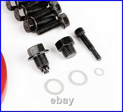 Alloy USA 11210 Red Aluminum Differential Dana 30 Axle Cover for Wrangler