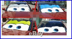 Aluminium Foil Car Front Window Windshield Sun Shade Big Eyes Cartoon Visor Gray